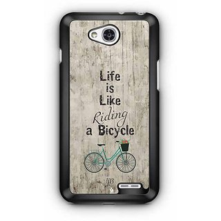 YuBingo Life is Like Riding a Bicycle Designer Mobile Case Back Cover for LG L90