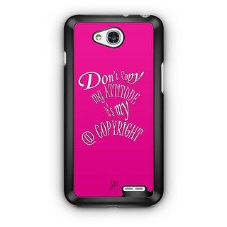 YuBingo Don't copy my attitude Designer Mobile Case Back Cover for LG L90