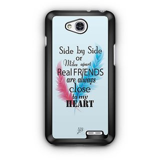 YuBingo Real Friends are close to my Heart Designer Mobile Case Back Cover for LG L90