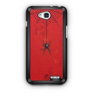 YuBingo Spider Hanging from Web Designer Mobile Case Back Cover for LG L90