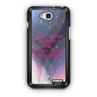 YuBingo Think Positive Designer Mobile Case Back Cover for LG L90