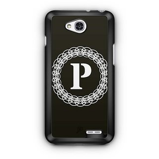 YuBingo Monogram with Beautifully Written letter P Designer Mobile Case Back Cover for LG L90
