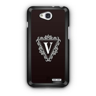 YuBingo Monogram with Beautifully Written letter V Designer Mobile Case Back Cover for LG L90