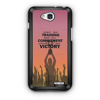 YuBingo Training, Commitment, Victory Designer Mobile Case Back Cover for LG L90