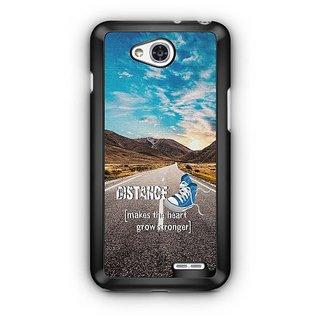 YuBingo Distance makes the Heart Grow Stronger Designer Mobile Case Back Cover for LG L90