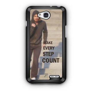 YuBingo Make Every Step Count Designer Mobile Case Back Cover for LG L90