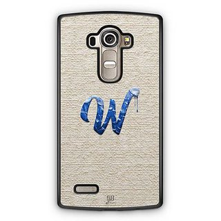 YuBingo Monogram with Beautifully Written Paint Finish letter W Designer Mobile Case Back Cover for LG G4