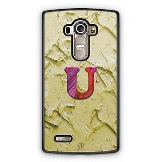 YuBingo Monogram with Beautifully Written Funky Colourful Paint Finish letter U Designer Mobile Case Back Cover for LG G4
