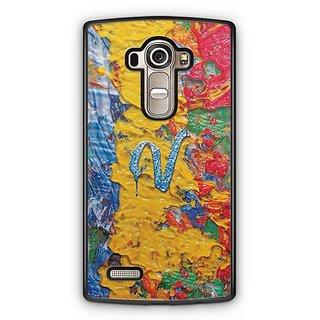 YuBingo Monogram with Beautifully Written Funky Colourful Paint Finish letter V Designer Mobile Case Back Cover for LG G4