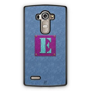 YuBingo Monogram with Beautifully Written Jeans and Girly Leather Finish letter E Designer Mobile Case Back Cover for LG G4