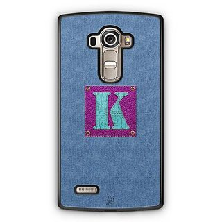 YuBingo Monogram with Beautifully Written Jeans and Girly Leather Finish letter K Designer Mobile Case Back Cover for LG G4