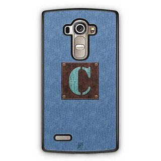 YuBingo Monogram with Beautifully Written Jeans and Macho Male Leather Finish letter C Designer Mobile Case Back Cover for LG G4