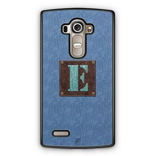 YuBingo Monogram with Beautifully Written Jeans and Macho Male Leather Finish letter E Designer Mobile Case Back Cover for LG G4