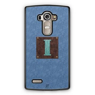 YuBingo Monogram with Beautifully Written Jeans and Macho Male Leather Finish letter I Designer Mobile Case Back Cover for LG G4