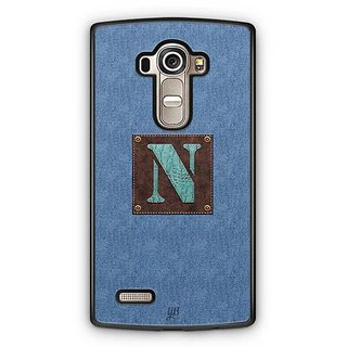 YuBingo Monogram with Beautifully Written Jeans and Macho Male Leather Finish letter N Designer Mobile Case Back Cover for LG G4