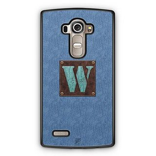 YuBingo Monogram with Beautifully Written Jeans and Macho Male Leather Finish letter W Designer Mobile Case Back Cover for LG G4