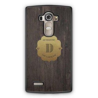 YuBingo Monogram with Beautifully Written Wooden and Metal (Plastic) Finish letter D Designer Mobile Case Back Cover for LG G4