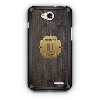 YuBingo Monogram with Beautifully Written Wooden and Metal (Plastic) Finish letter U Designer Mobile Case Back Cover for LG L90