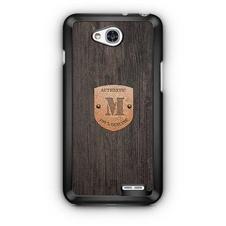YuBingo Monogram with Beautifully Written Wooden and Metal (Plastic) Finish letter M Designer Mobile Case Back Cover for LG L90