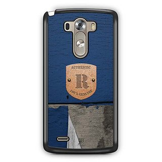 YuBingo Monogram with Beautifully Written Wooden and Metal (Plastic) Finish letter R Designer Mobile Case Back Cover for LG G3