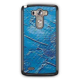 YuBingo Blue Oil Paint Designer Mobile Case Back Cover for LG G3