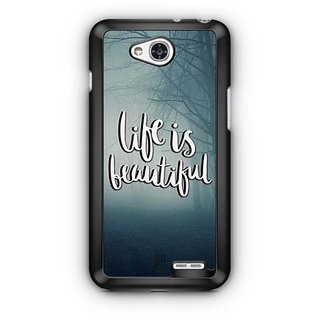 YuBingo Life is beautiful Designer Mobile Case Back Cover for LG L90