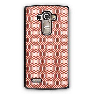 YuBingo Red hexagon pattern Designer Mobile Case Back Cover for LG G4
