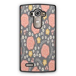 YuBingo Orange flower and leaf pattern Designer Mobile Case Back Cover for LG G4
