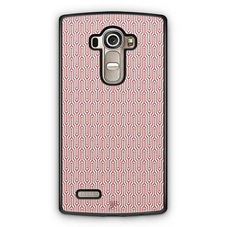 YuBingo Red and white abstract design Designer Mobile Case Back Cover for LG G4