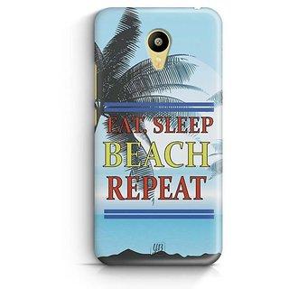 YuBingo Travel, Sleep, Beach, Repeat Designer Mobile Case Back Cover for Meizu M3