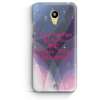 YuBingo Think Positive Designer Mobile Case Back Cover for Meizu M3