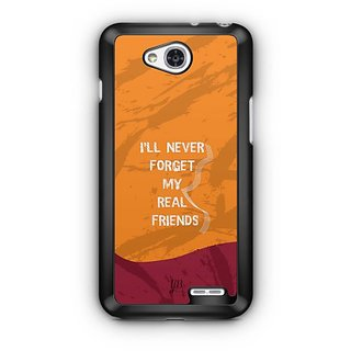 YuBingo Never Forget Real Friends Designer Mobile Case Back Cover for LG L90