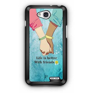 YuBingo Life is Better with Friends Designer Mobile Case Back Cover for LG L90