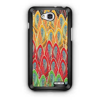 YuBingo Colourful Large Feathers Designer Mobile Case Back Cover for LG L90
