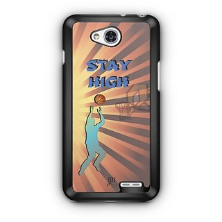 YuBingo Stay High with Basketball Designer Mobile Case Back Cover for LG L90