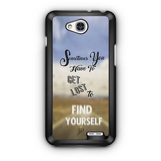YuBingo Get Lost to Find Yourself Designer Mobile Case Back Cover for LG L90