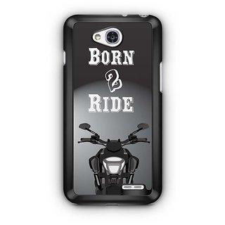 YuBingo Born To Ride Designer Mobile Case Back Cover for LG L90