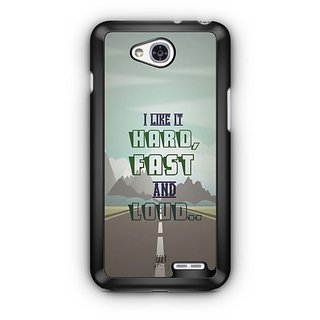 YuBingo Hard, Fast and Loud Designer Mobile Case Back Cover for LG L90