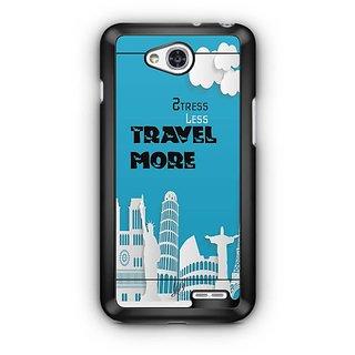 YuBingo Stress Less Travel More Designer Mobile Case Back Cover for LG L90