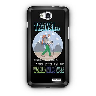 YuBingo The World is Better than World Wide Web Designer Mobile Case Back Cover for LG L90