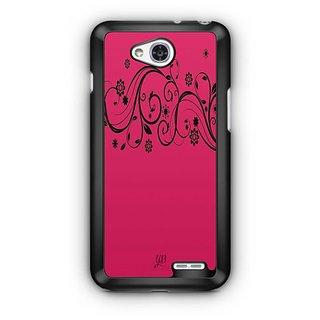 YuBingo Pink Flowery Pattern Designer Mobile Case Back Cover for LG L90