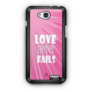 YuBingo Love Never Fails Designer Mobile Case Back Cover for LG L90