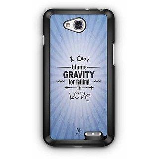 YuBingo I can Blame Gravity for falling in Love Designer Mobile Case Back Cover for LG L90