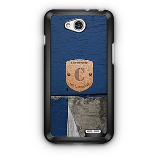 YuBingo Monogram with Beautifully Written Wooden and Metal (Plastic) Finish letter C Designer Mobile Case Back Cover for LG L90