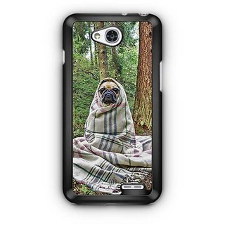 YuBingo Pug feeling cold Designer Mobile Case Back Cover for LG L90
