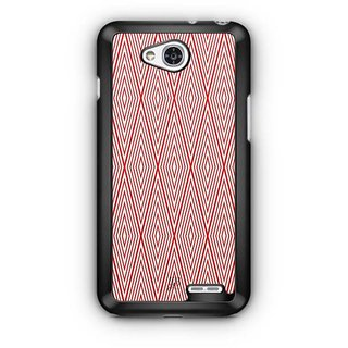 YuBingo Red Rhombus Pattern Designer Mobile Case Back Cover for LG L90