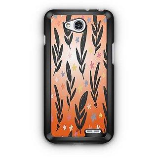 YuBingo Flowers and leaves pattern Designer Mobile Case Back Cover for LG L90