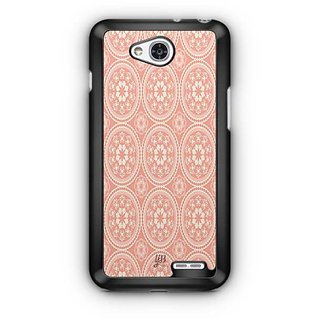 YuBingo Orange and white rangoli design Designer Mobile Case Back Cover for LG L90