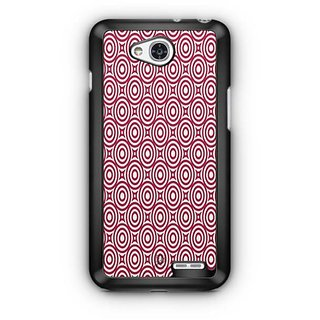 YuBingo Red circles pattern Designer Mobile Case Back Cover for LG L90