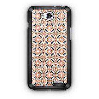YuBingo Orange Blue flowers pattern Designer Mobile Case Back Cover for LG L90